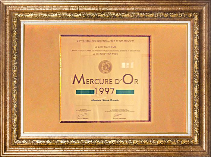 diplôme mercure d'or 1997